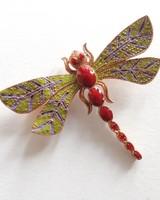 Adamarina Brooch Dragonfly #28