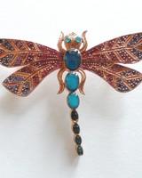 Adamarina Brooch Dragonfly #29