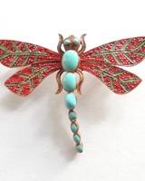 Adamarina Brooch Dragonfly #30