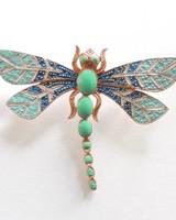 Adamarina Brooch Dragonfly #31