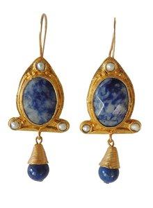 Adamarina Abril Blue Earrings