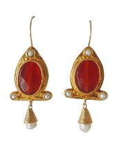 Adamarina Abril Red Earrings