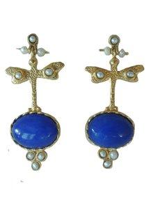 Adamarina Pendientes Lucia Azul