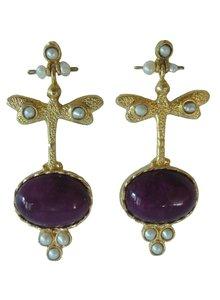 Adamarina Lucia Lilac Earrings