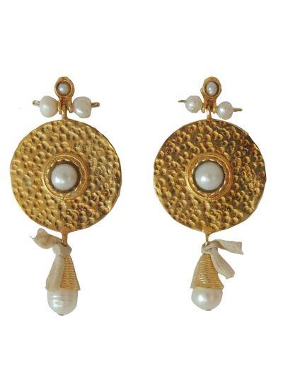 Adamarina Helena Pearls Earrings