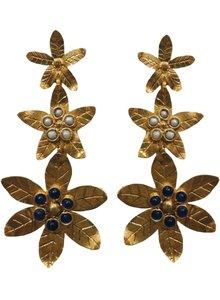 Adamarina Saffron Blue Earrings