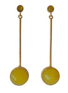 Adamarina Kali Yellow Earrings