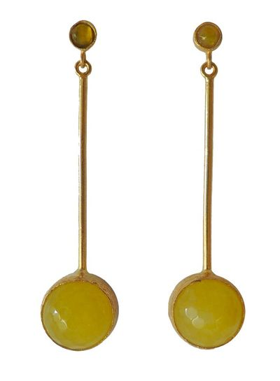 Adamarina Kali Yellow Earrings
