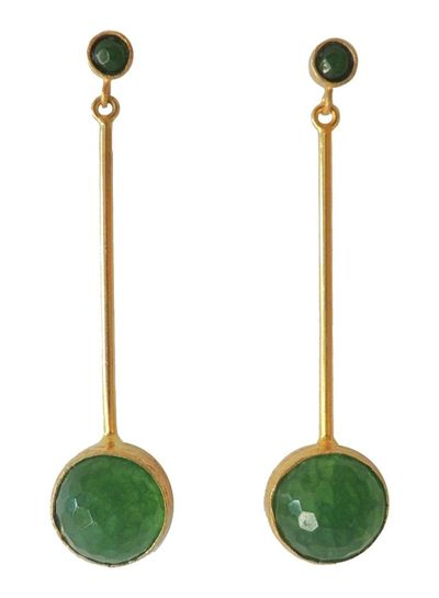Adamarina Kali Green Earrings