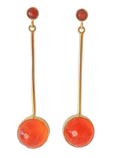 Adamarina Kali Orange Ohrringe