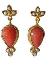 Adamarina Sammy Red Earrings