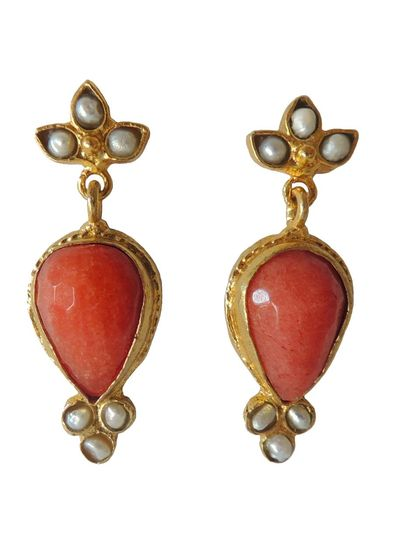 Adamarina Sammy Red Earrings