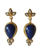 Adamarina Sammy Blue Night Earrings