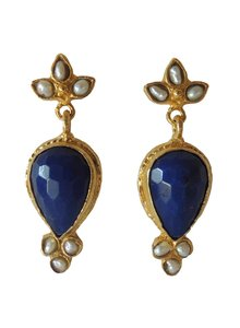 Adamarina Sammy Blue Night Earrings