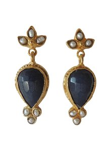 Adamarina Sammy Navy Earrings