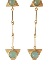 Adamarina Isis Aquamarine Earrings