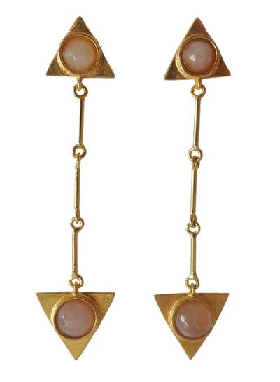 Adamarina Isis Pink Earrings