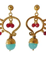 Adamarina Frida Pink and Blue Earrings