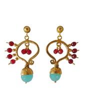 Adamarina Frida Pink and Blue Earrings