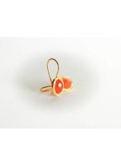 Adamarina Aline  Cornelian Earrings