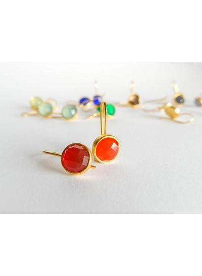 Adamarina Maia Cornelian Earrings
