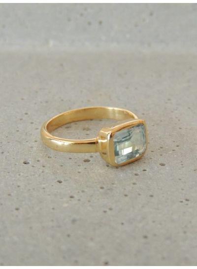 Adamarina Siren Aquamarine Ring