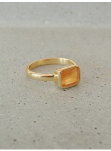 Adamarina Siren Koralle Ring