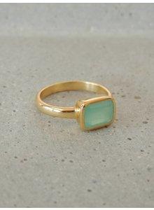 Adamarina Siren Chalcedony Aquamarine Ring