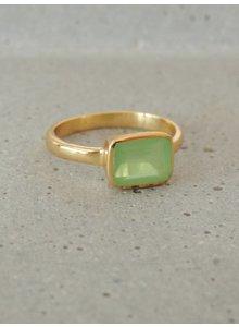 Adamarina Siren Green Chalcedony Ring