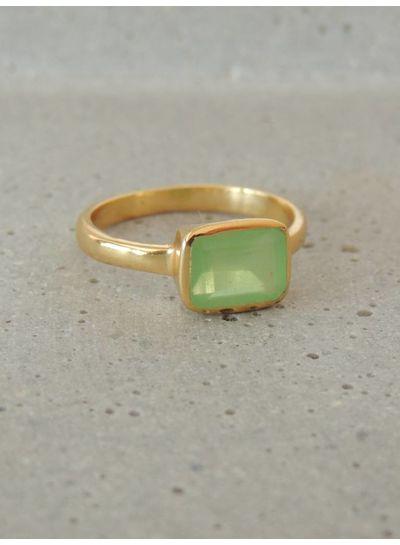 Adamarina Siren Grüne Chalzedon Ring