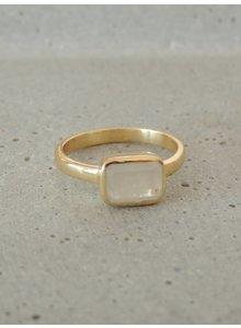 Adamarina Siren Mondstein Ring