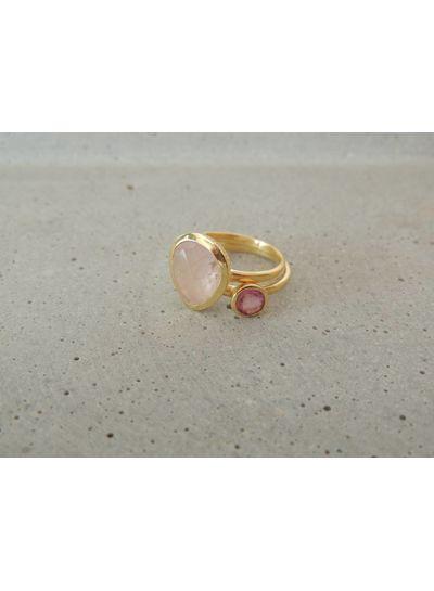Adamarina Duo Ring Rose