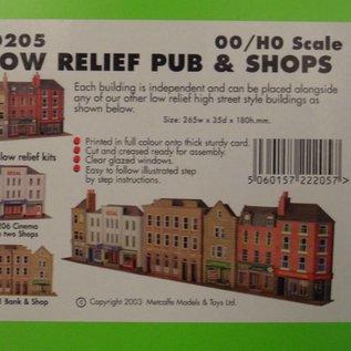 Metcalfe Metcalfe PO205 Low relief pub and shops (H0/OO gauge)