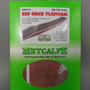 Metcalfe Metcalfe PO216 Red brick platform (H0/OO gauge)