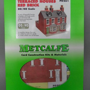 Metcalfe PO261 Red brick terraced houses
