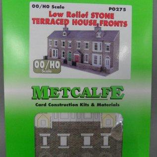 Metcalfe Metcalfe PO275 Reihenhäuser in grauem Stein, nur Vorderseiten (Halbrelief/Hintergrundmodell) (Baugröße H0/OO)