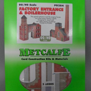 Metcalfe Metcalfe PO284 Heizungsanlage mit Fabrikstor (Baugröße H0/OO)