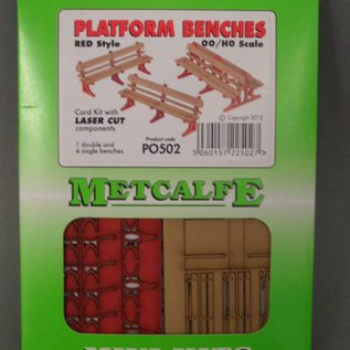 Metcalfe Metcalfe PO502 5 Bahnsteigbänke (Baugröße H0/OO)
