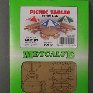 Metcalfe Metcalfe PO510 Picknicktische (Baugröße H0/OO)
