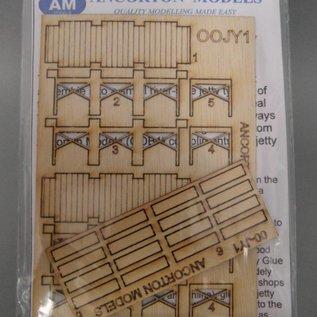 Ancorton Models Houten aanlegsteiger (Schaal H0/OO, lasercut)