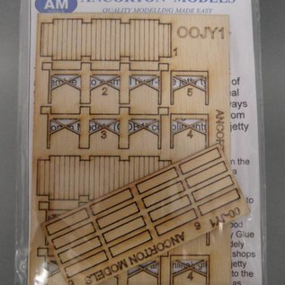 Ancorton Models Wooden jetty, laser cut kit, H0/OO scale