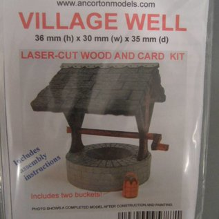 Ancorton Models OOVW1 - Village well, laser cut kit, H0/OO gauge
