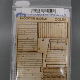 Ancorton Models Schuurtje uit spoorbielzen (Schaal H0/OO, lasercut)