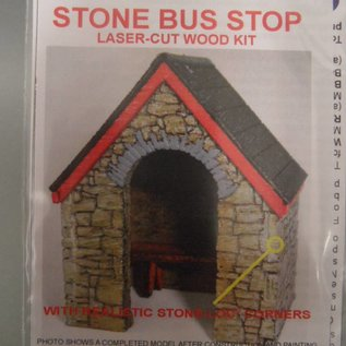 Ancorton Models Stone built bus stop - laser cut kit, H0/OO gauge