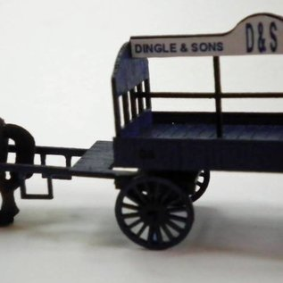 Ancorton Models Coal wagon, horse drawn, H0/OO gauge