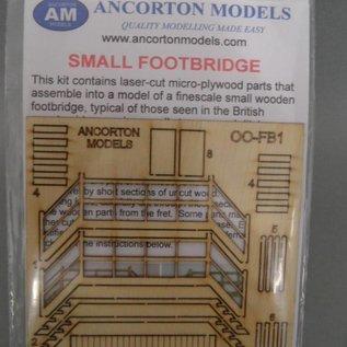 Ancorton Models Kleine Fußbrücke (Baugröße H0/OO Lasergeschnitten)