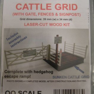 Ancorton Models Cattle Grid- laser cut kit, H0/OO scale