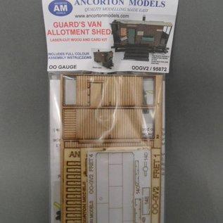 Ancorton Models Scheune gebaut aus altem Güterwagen (Baugröße H0/OO Lasergeschnitten)