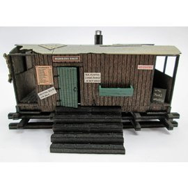 Ancorton Models Guards van allotment shed, laser cut kit, H0/OO scale