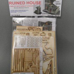 Ancorton Models Ruïne van een woonhuis (Schaal H0/OO, lasercut)